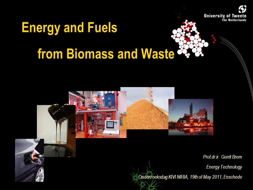 1 Biomass Research at University of Twente  Faculty of Engineering  Faculty of Science  Faculty of Management and Governance Biomass is spearhead of UT!
