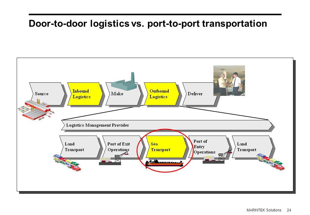 24MARINTEK Solutions Door-to-door logistics vs.