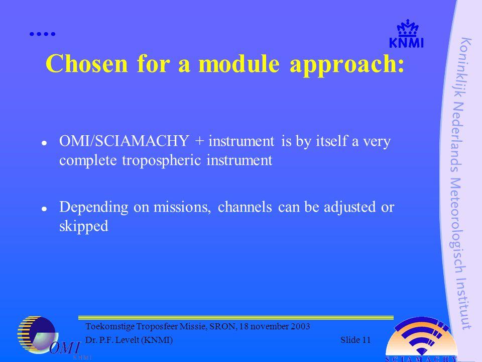 Toekomstige Troposfeer Missie, SRON, 18 november 2003 Dr.