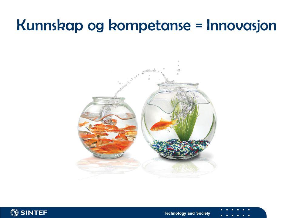 Technology and Society Kunnskap og kompetanse = Innovasjon