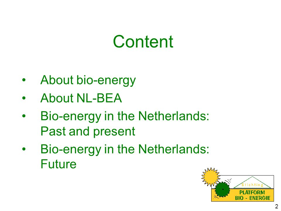 3 'About' bio-energy: 'essentials' Biogas Residuals from agriculture and forestry Energy crops Hydropower Wind energy Solar thermal collectors PhotovoltaicsGeothermal Why bio-energy?Growth 1995 - 2010 primarily biomass (EU-figures)