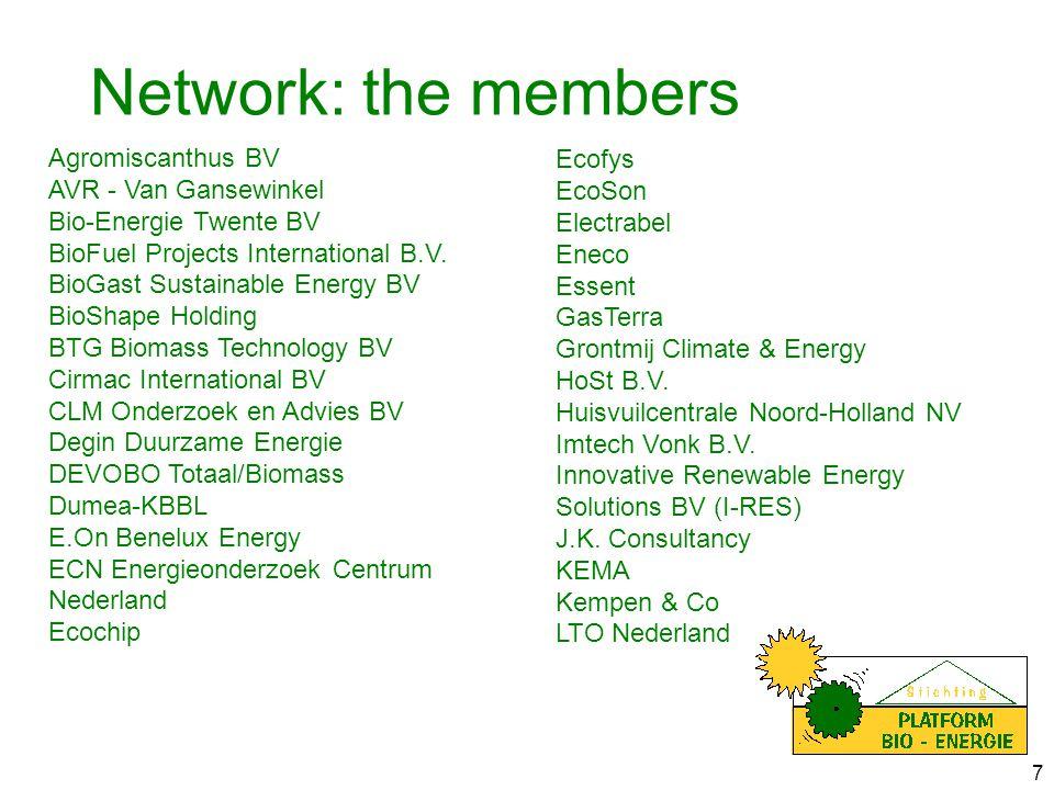 8 NUON Power Generation OPTIMUM Environmental Technologies BV Praktijkcentrum Nij Bosma Zathe Provincie Drenthe Rabobank Raedthuys Groep SDE Research Siemens Nederland NV Sparkling Projects b.v.