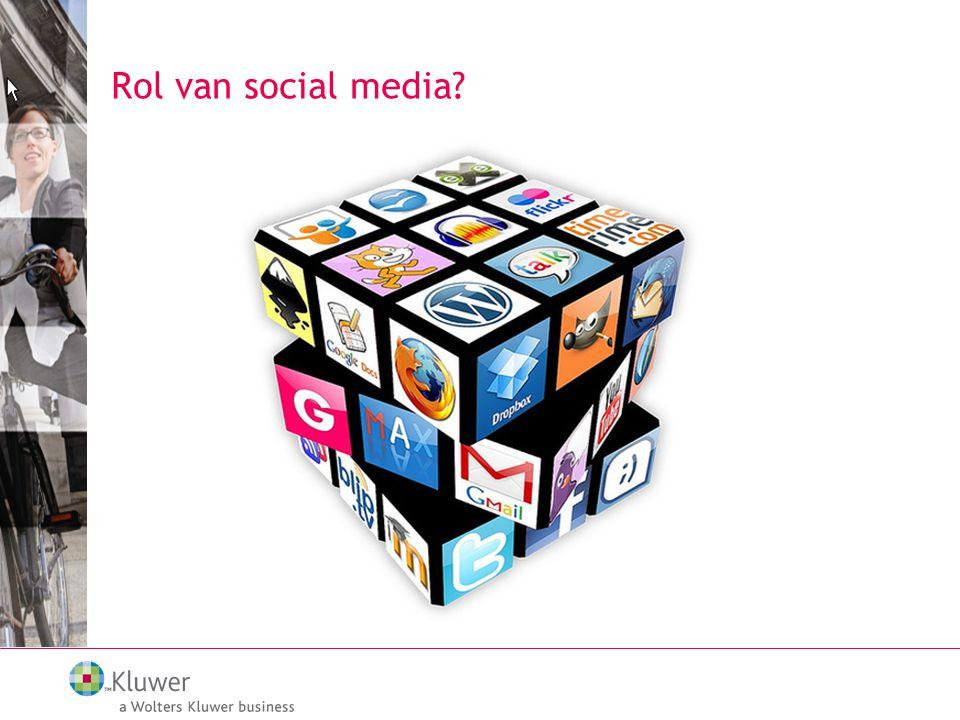 Rol van social media?
