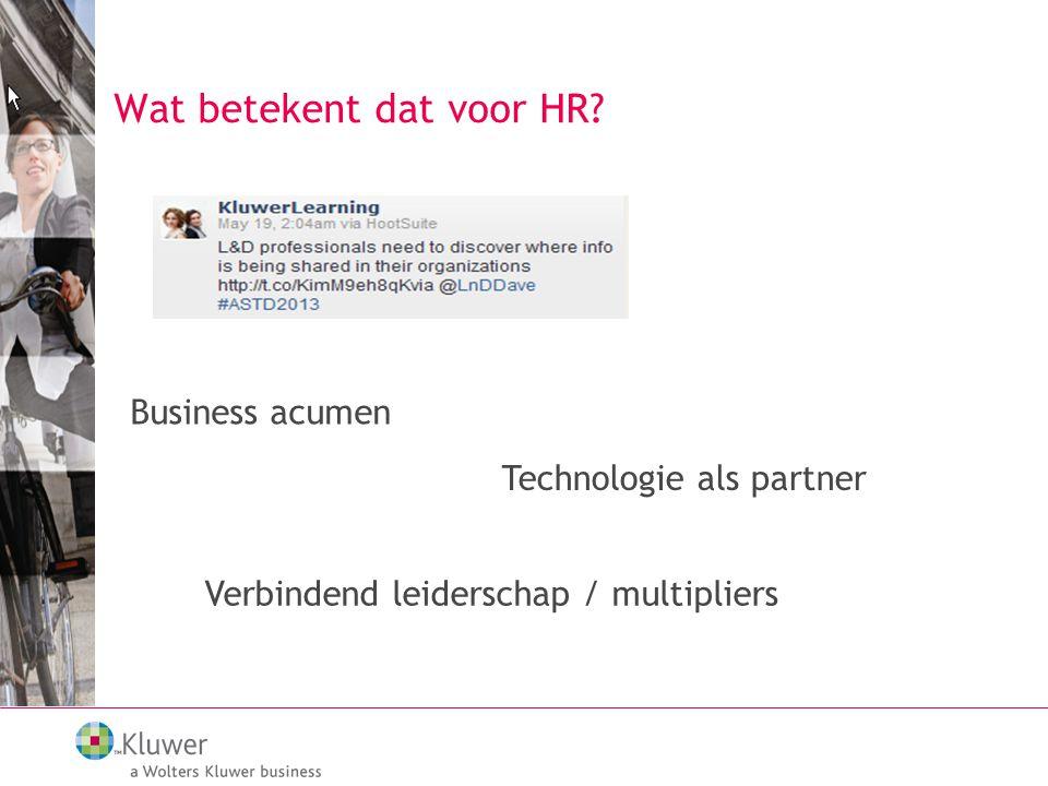 Wat betekent dat voor HR.