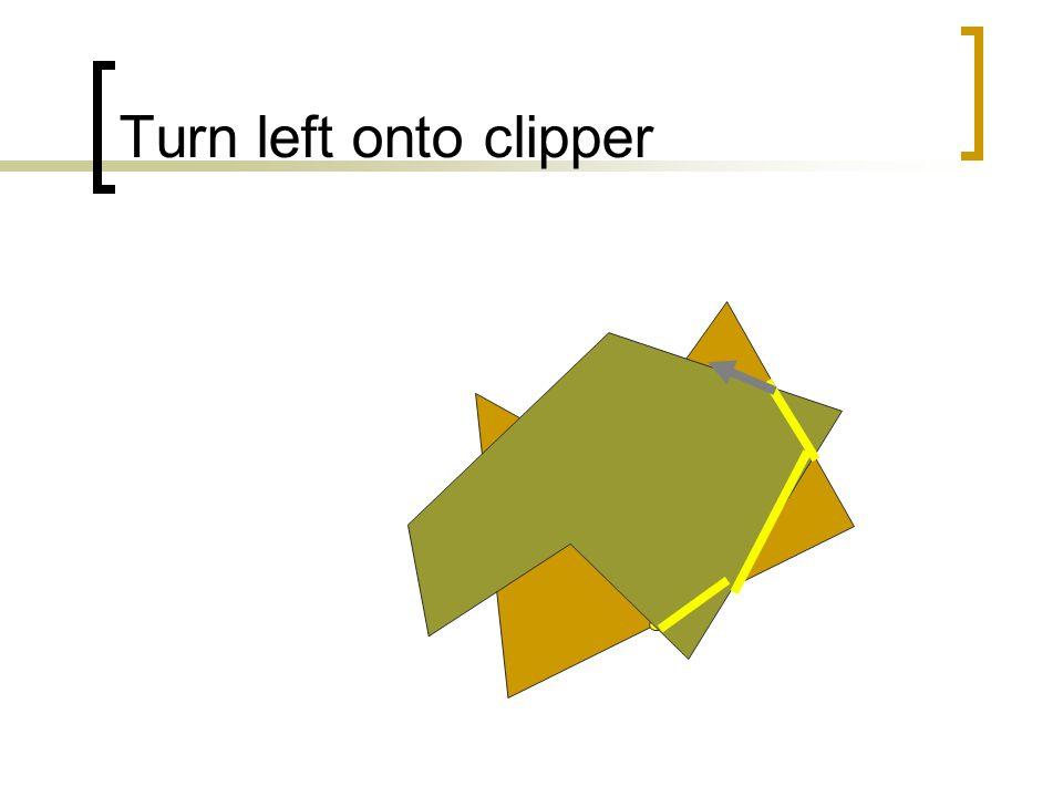 Turn left onto clipper