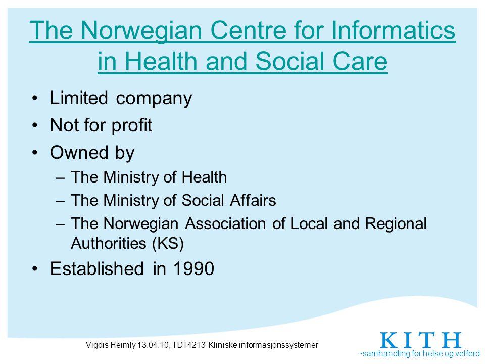 ~samhandling for helse og velferd Where do we need new standards.