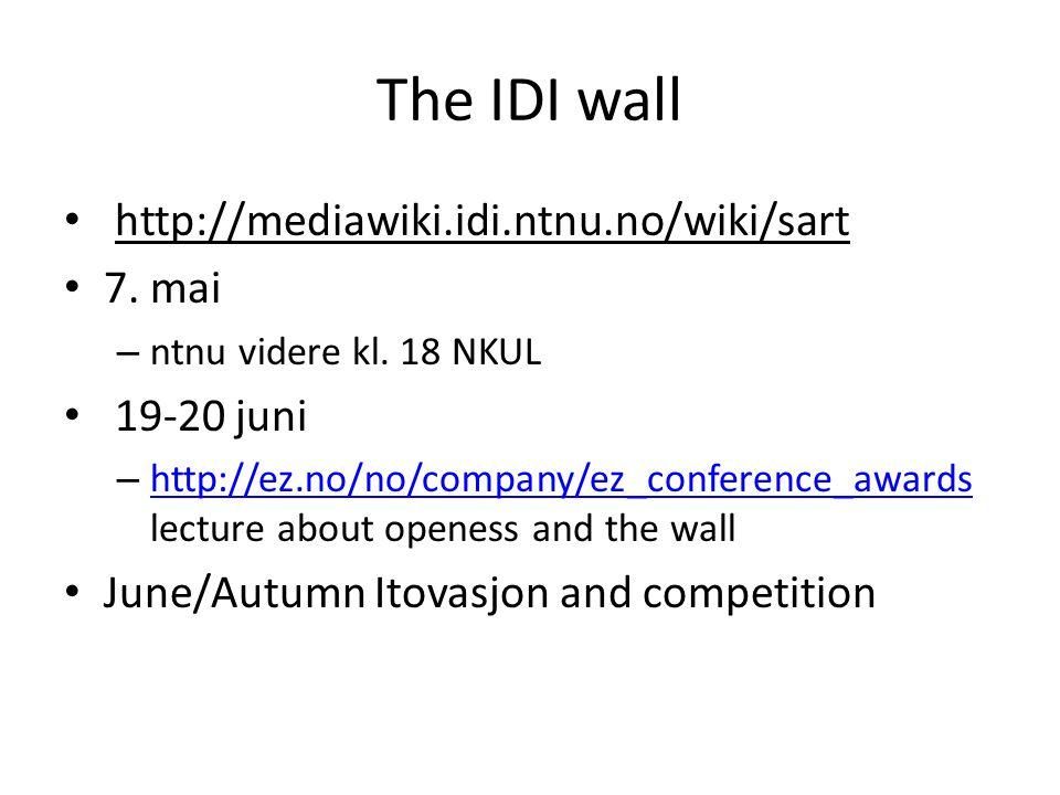 The IDI wall http://mediawiki.idi.ntnu.no/wiki/sart 7.