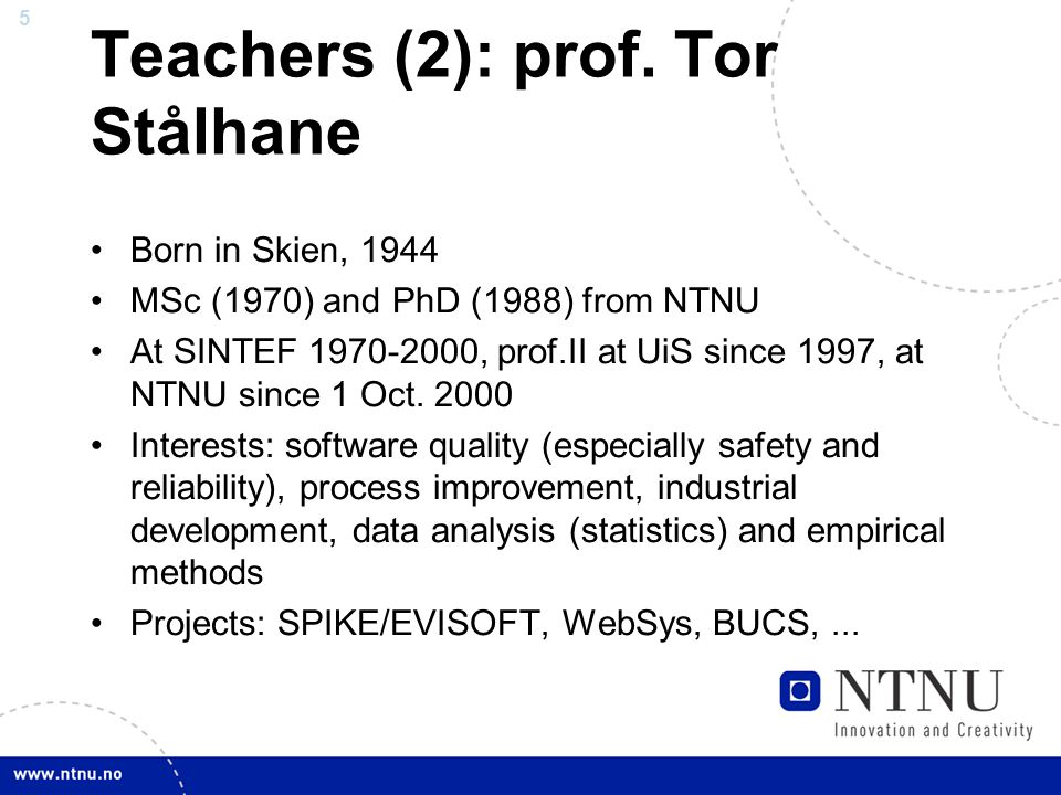 5 Teachers (2): prof.