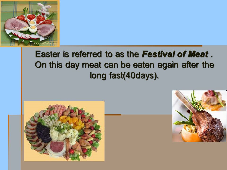 Holy Saturday was - still is - the day of blessing of the food.