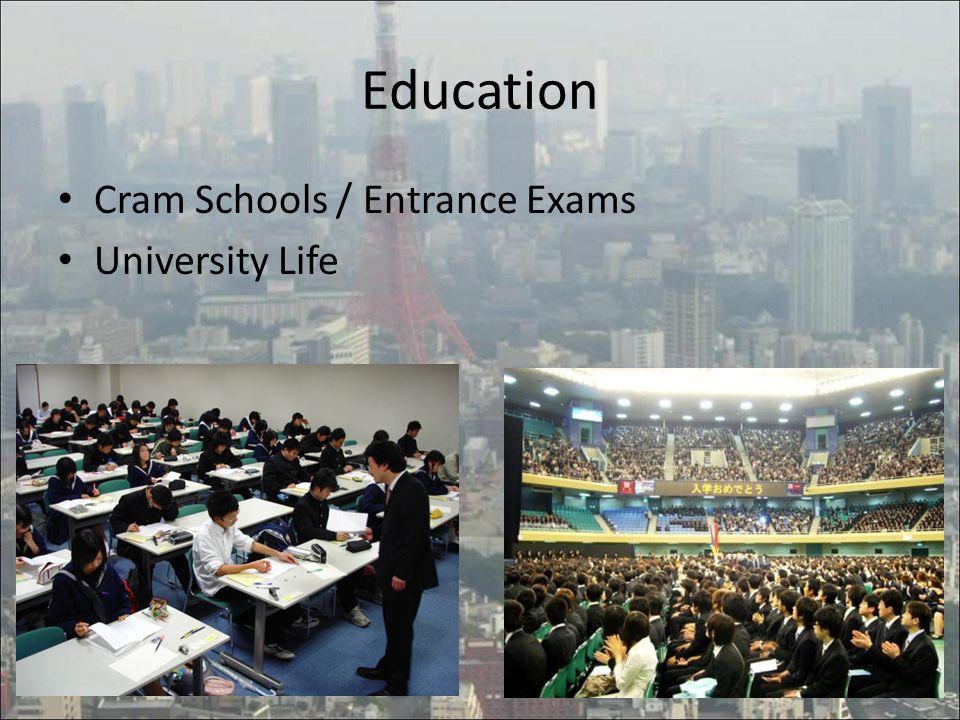 Cram Schools / Entrance Exams University Life