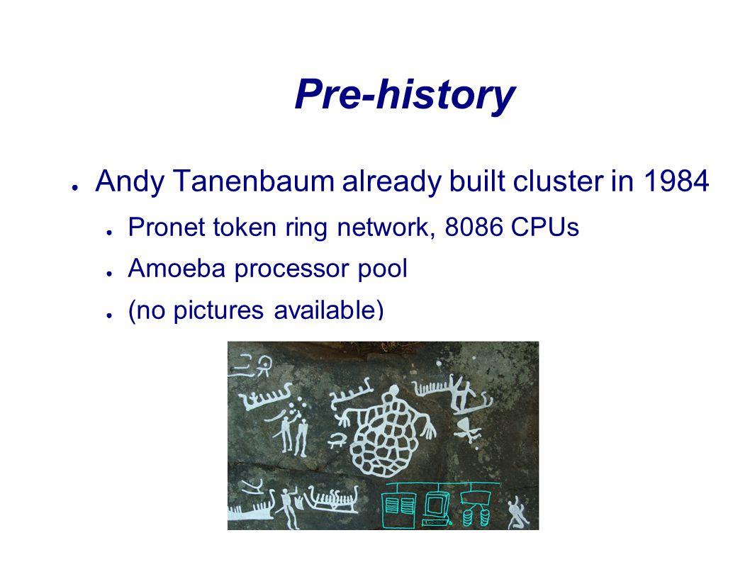 DAS-1 (1997-2002) A homogeneous wide-area system VUAmsterdam LeidenDelft 6 Mb/s ATM 200 MHz Pentium Pro 128 MB memory 200 nodes Myrinet interconnect Built by Parsytec  [ACM SIGOPS 2000] (paper with 50 authors)
