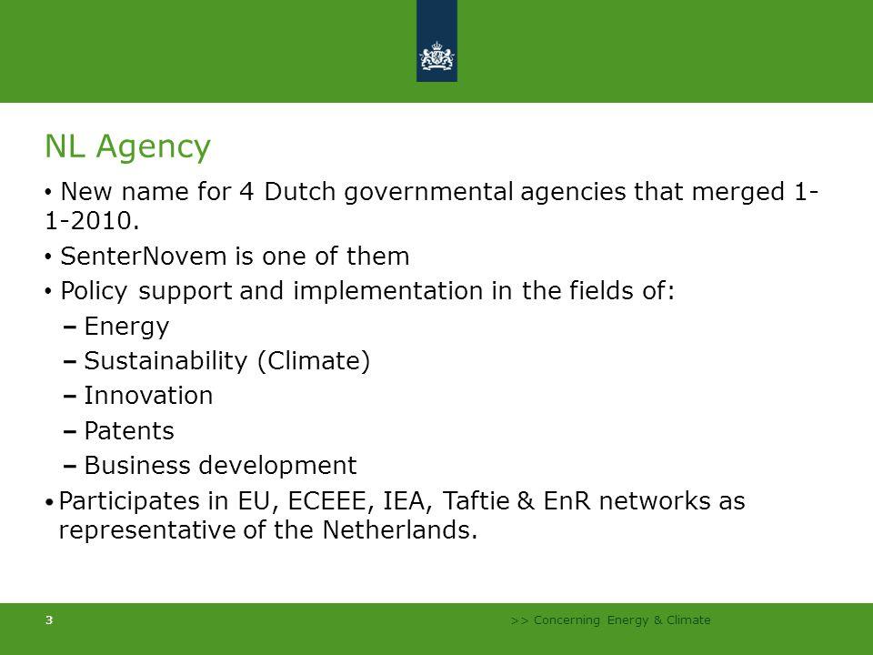 >> Concerning Energy & Climate 14 Buildings Non Residential Residential New BuildingsExisting Buildings EPN EPC EI-calculation EI 10 year Energy label