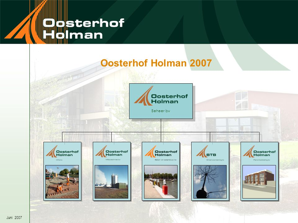 Juni 2007 Oosterhof Holman 2007 Beheer bv