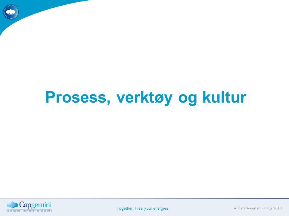 Together. Free your energies Anders Sveen @ Smidig 2010 Prosess, verktøy og kultur