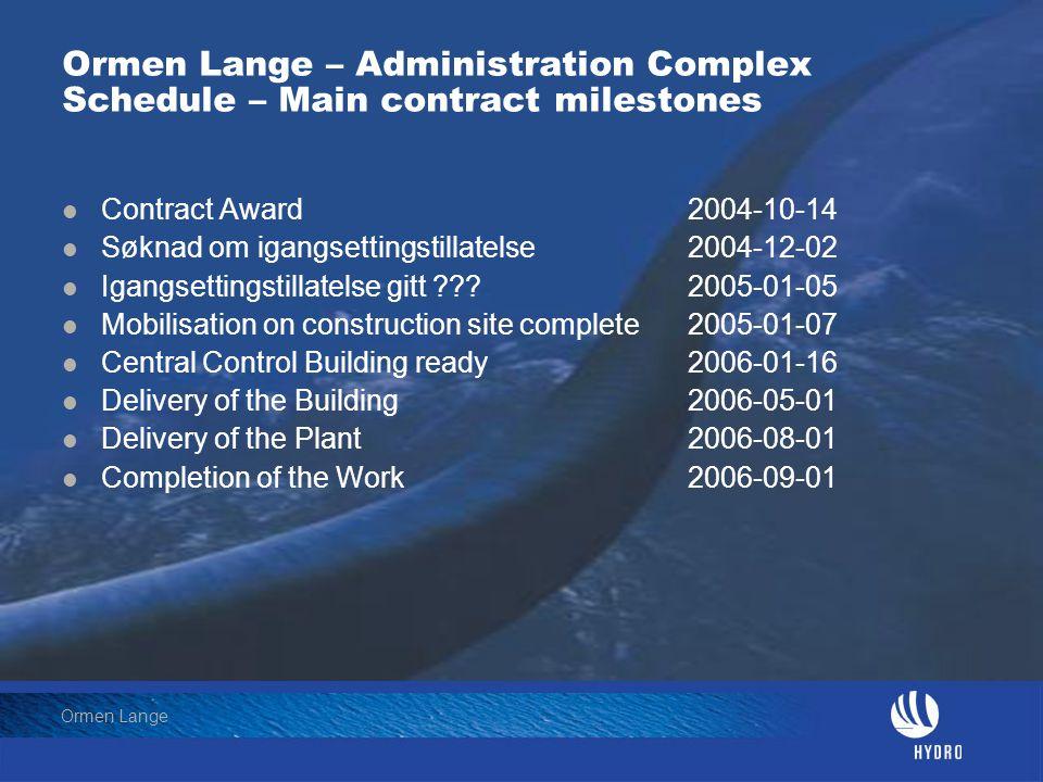 Date: 2004-01-23 Page: 6 Hydro Oil & Energy Ormen Lange Situasjonsplan