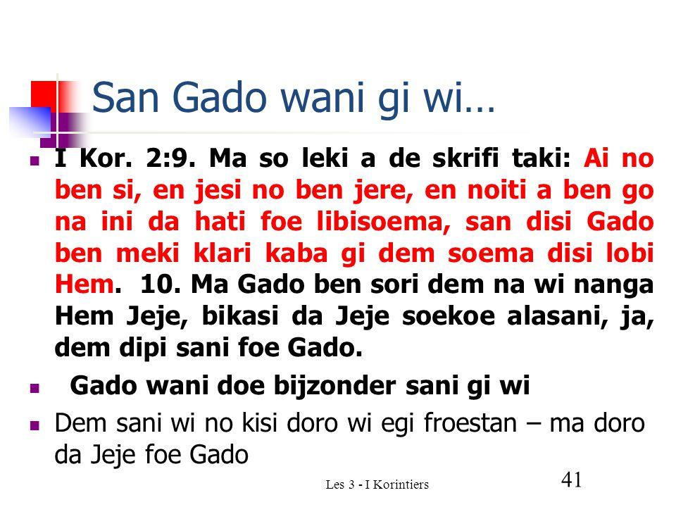 Les 3 - I Korintiers 41 San Gado wani gi wi… I Kor.