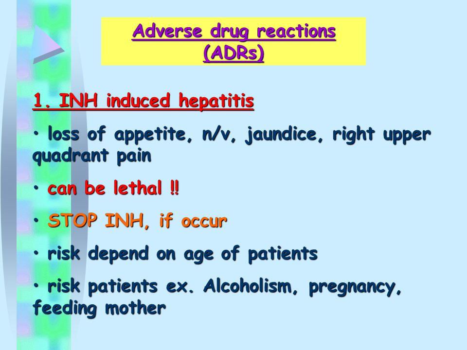Adverse drug reactions (ADRs) 1.