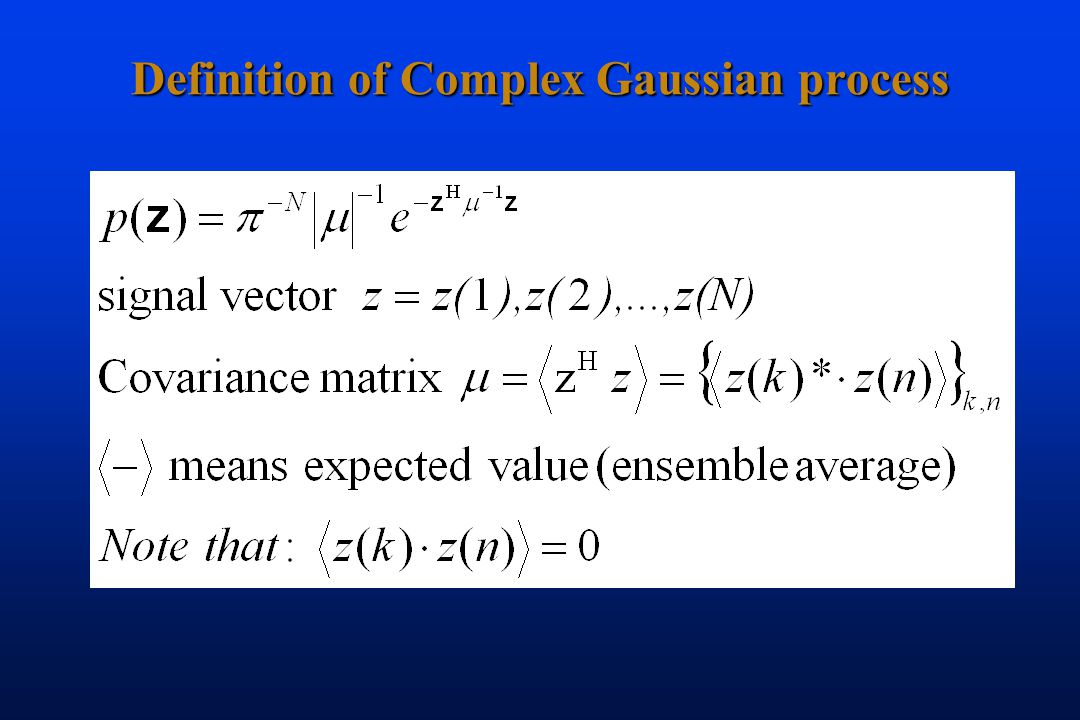 Definition of Complex Gaussian process