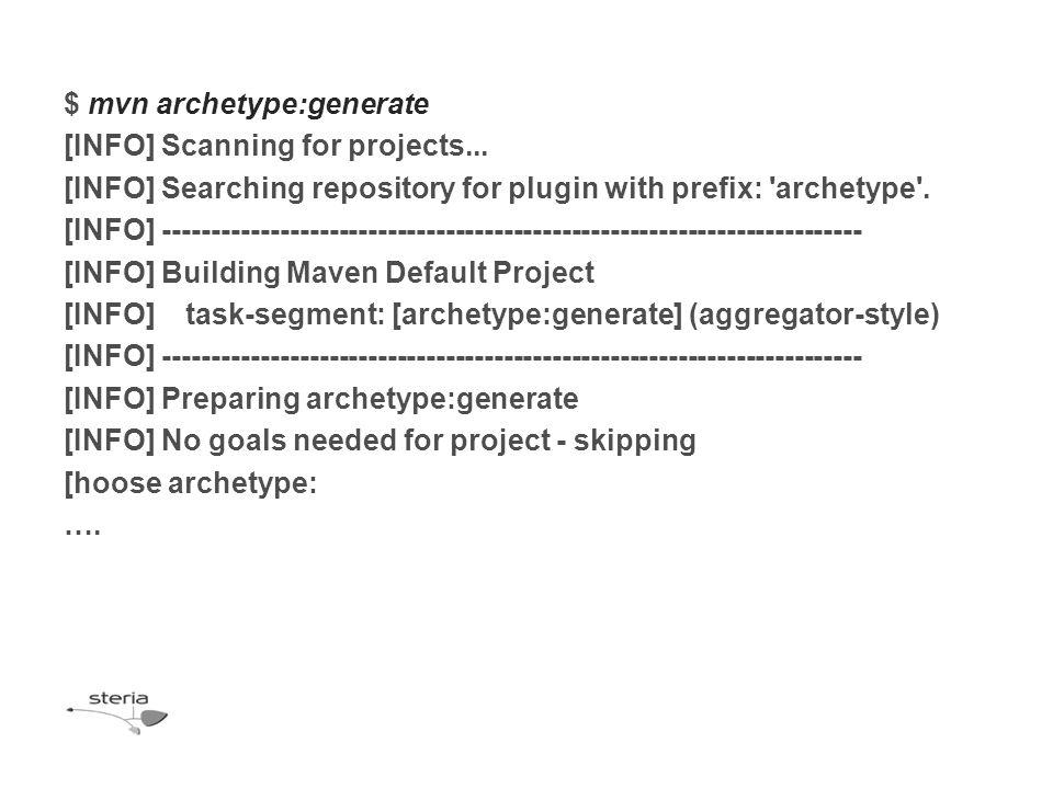 [hoose archetype: 1: remote -> docbkx-quickstart-archetype (-) 2: remote -> multi (-) 3: remote -> simple (-)...