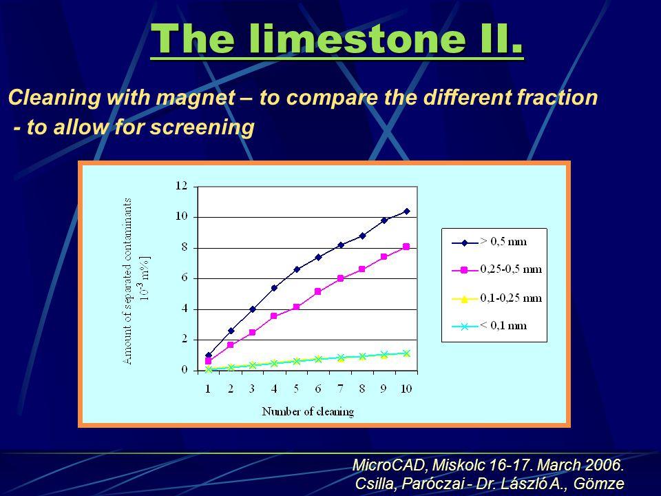 The limestone II.