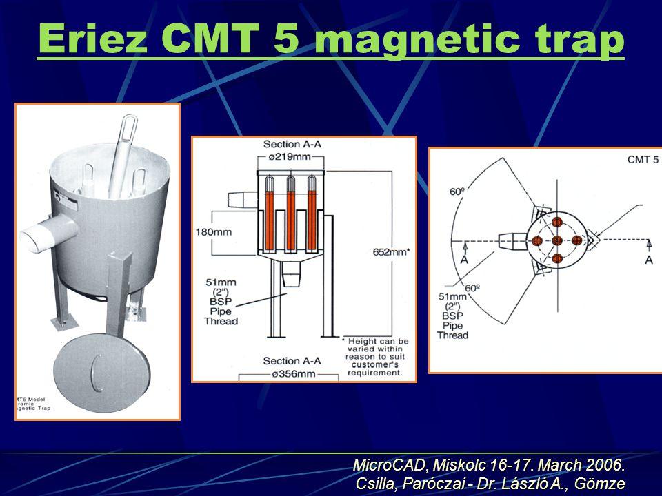 Eriez CMT 5 magnetic trap MicroCAD, Miskolc 16-17.