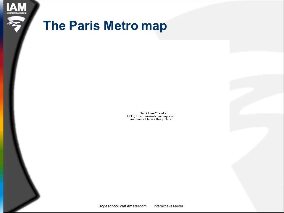 Hogeschool van Amsterdam Interactieve Media The Paris Metro map