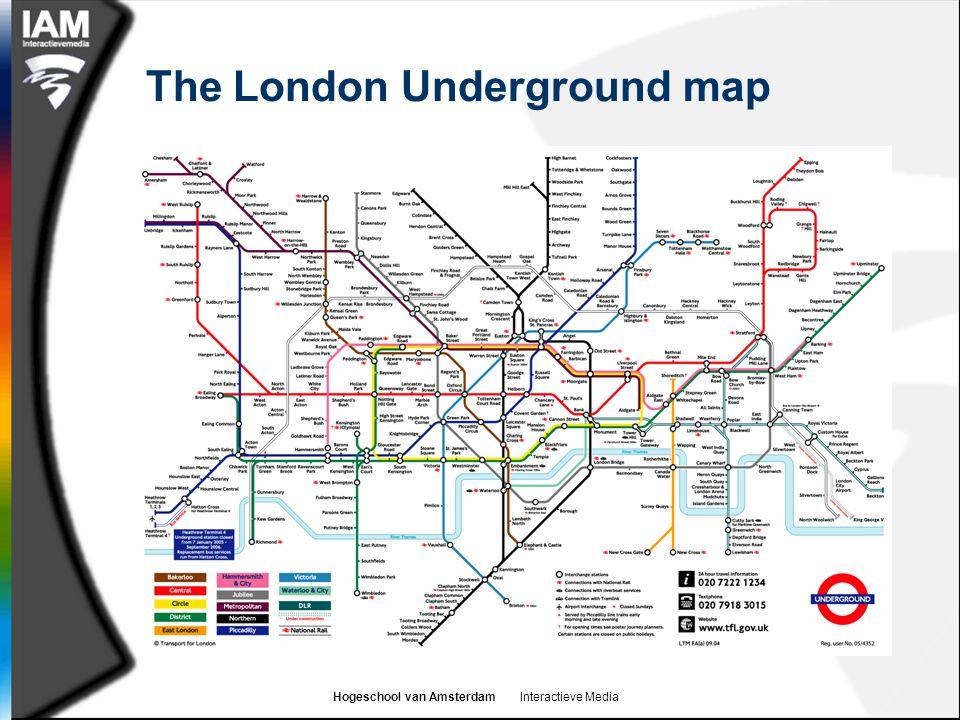 Hogeschool van Amsterdam Interactieve Media The London Underground map