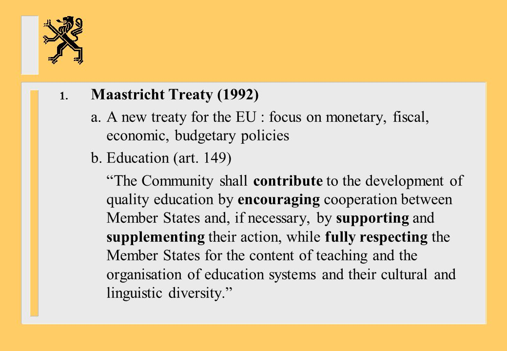 8.Barcelona EU summit (March 2002) calls for further action -Introduction of instruments to ensure transparency of diplomas and qualifications (ECTS, diploma and certificate supplements, European CV) -Closer cooperation in the context of the Bologna process -Simular action in the area of vocational training (Copenhagenprocess) -Improved mastery of basic skills by teaching at least two foreign languages from a very early age; establishment of a linguistic competence indicator in 2003 (sic !); development of digital literacy; generalisation of an Internet and computer user's certificate for secondary school pupils (ECDL)