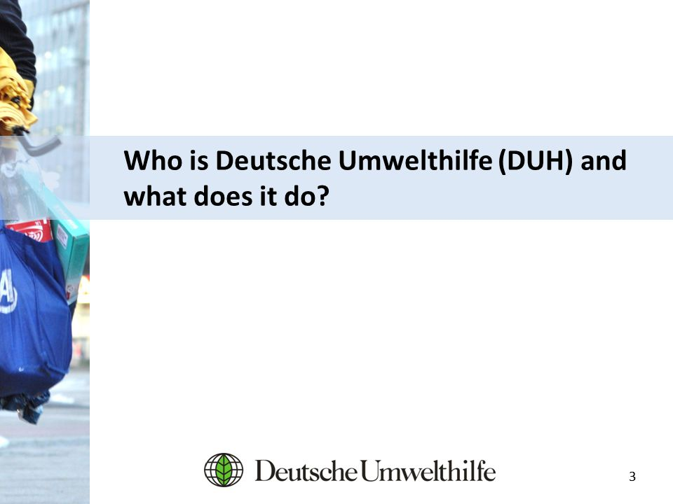 33 Who is Deutsche Umwelthilfe (DUH) and what does it do?