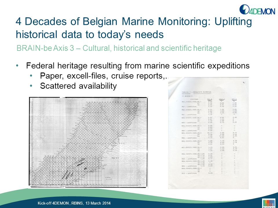 Chemical Oceanography Unit of the University of Liège Kick-off 4DEMON, RBINS, 13 March 2014 As been involved in ocean acidification : Frankignoulle and Gattuso papers the 1990's papers highlighted the negative effects of ocean acification on coral reef calcification Delille et al.