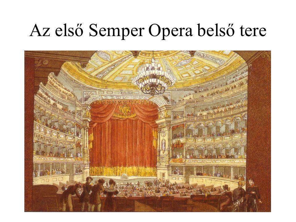 Az első Semper Opera belső tere