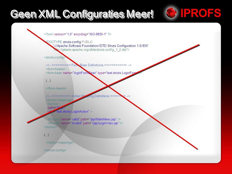 Geen XML Configuraties Meer.
