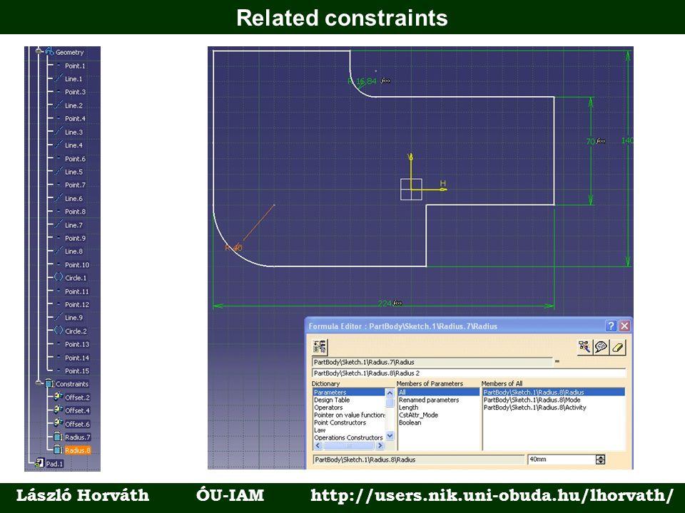 Related constraints László Horváth ÓU-IAM http://users.nik.uni-obuda.hu/lhorvath/