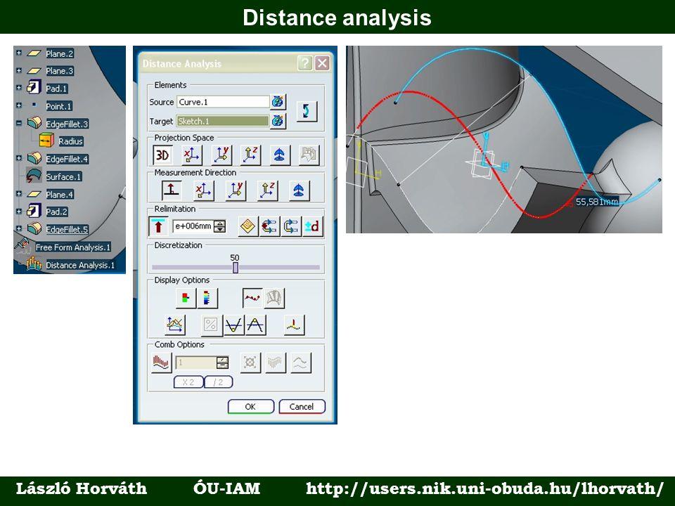 Distance analysis László Horváth ÓU-IAM http://users.nik.uni-obuda.hu/lhorvath/