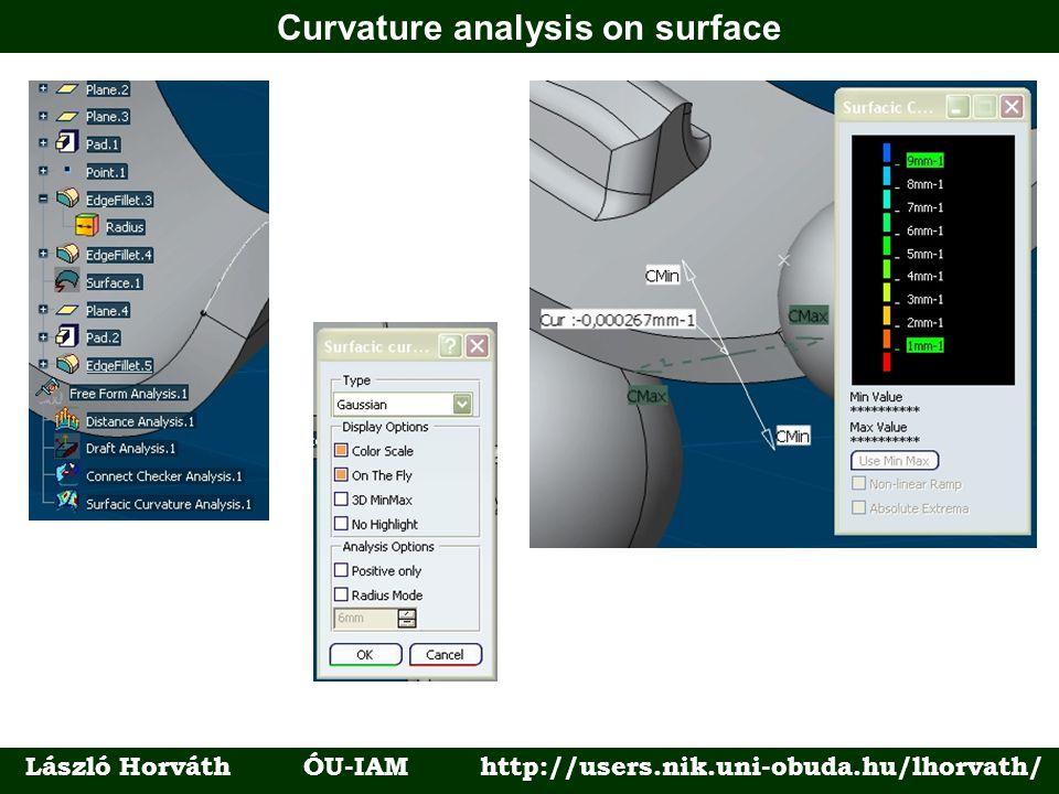 Curvature analysis on surface László Horváth ÓU-IAM http://users.nik.uni-obuda.hu/lhorvath/