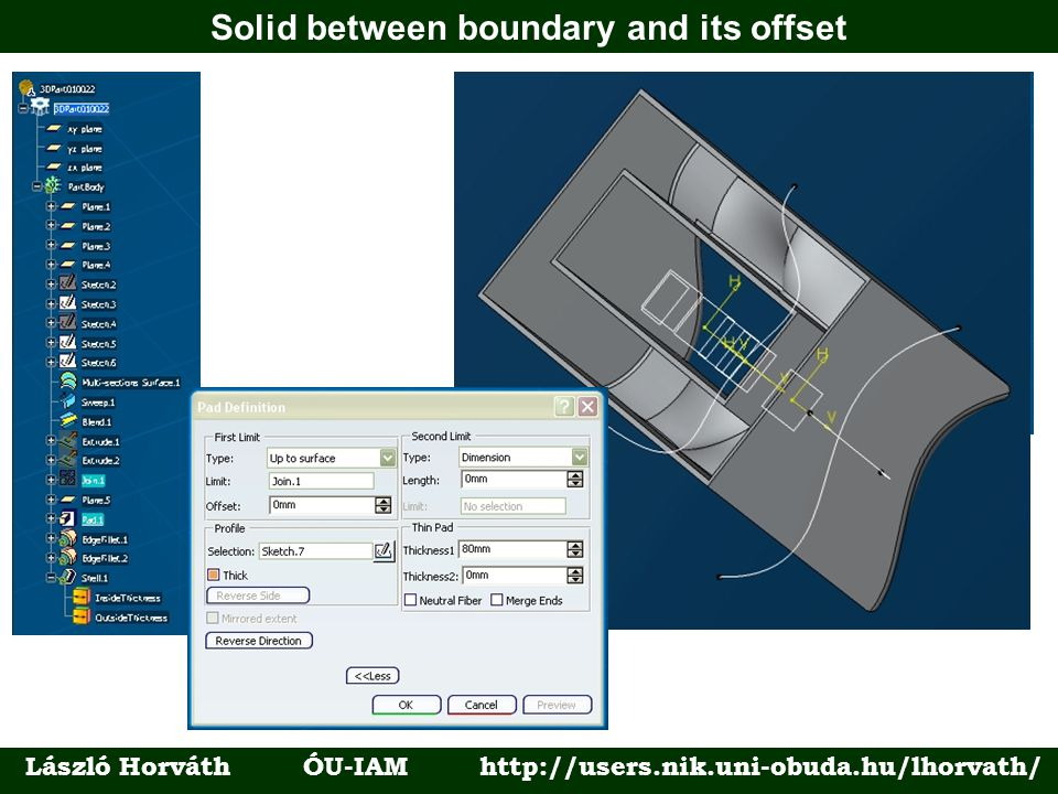 Solid between boundary and its offset László Horváth ÓU-IAM http://users.nik.uni-obuda.hu/lhorvath/