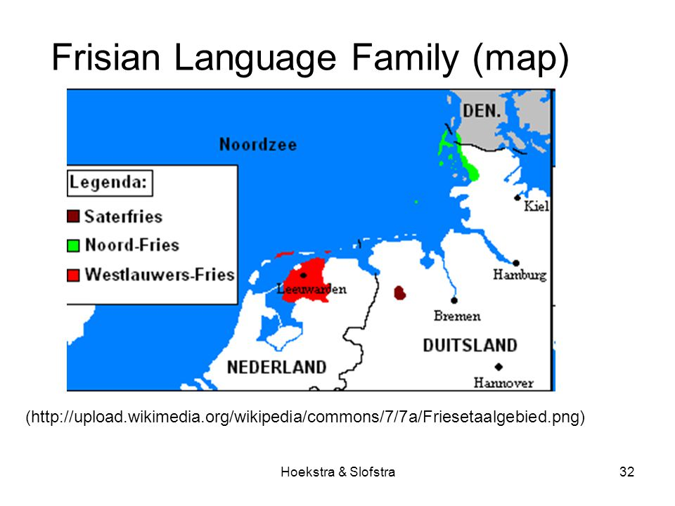 Hoekstra & Slofstra32 Frisian Language Family (map) (http://upload.wikimedia.org/wikipedia/commons/7/7a/Friesetaalgebied.png)