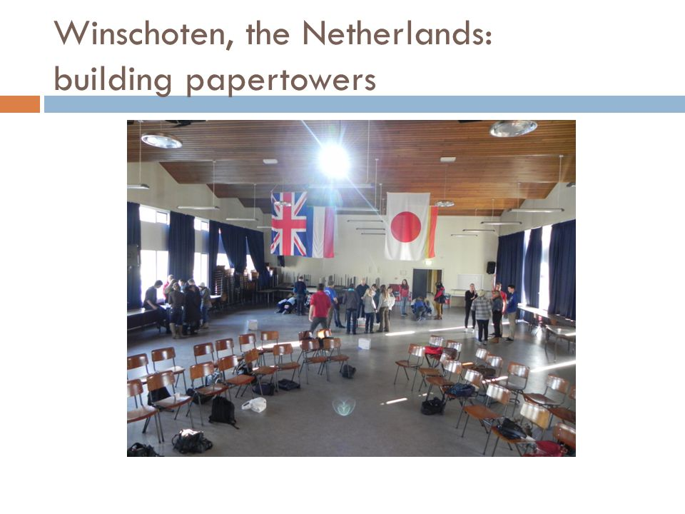 Winschoten, the Netherlands: building papertowers