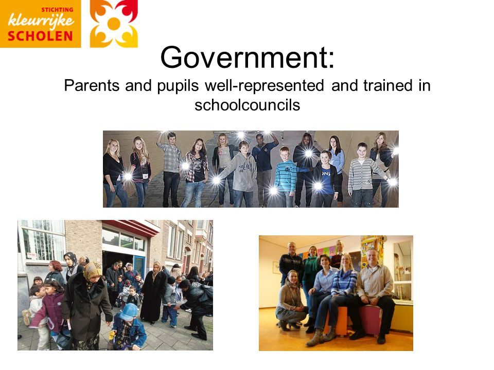 Government: Parents and pupils well-represented and trained in schoolcouncils