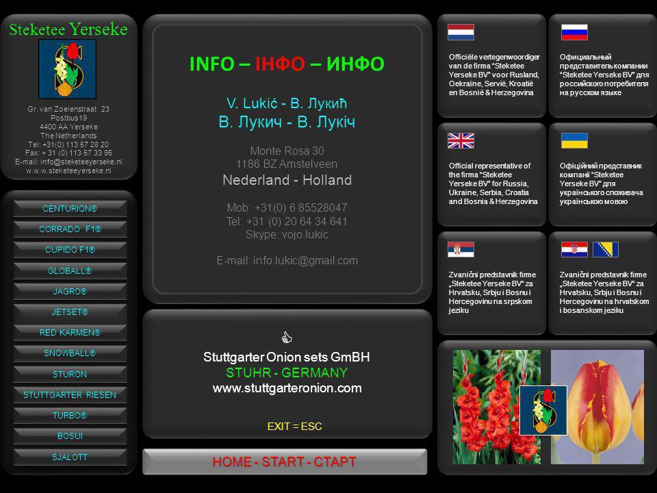 Gr. van Zoelenstraat 23 Postbus19 4400 AA Yerseke The Netherlands Tel: +31(0) 113 57 28 20 Fax: + 31 (0) 113 57 33 95 E-mail: info@steketeeyerseke.nl