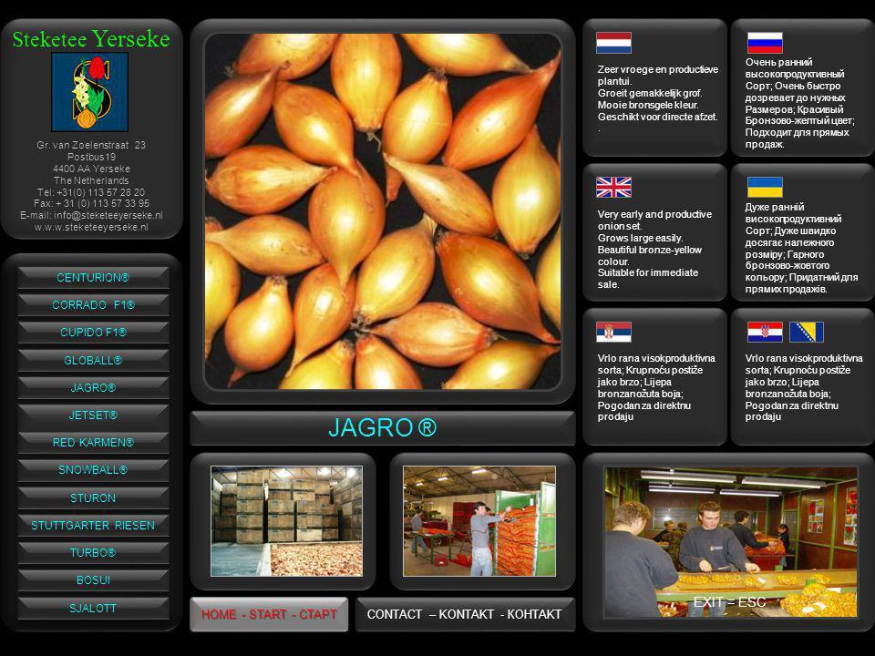 Steketee Yerseke JAGRO ® Zeer vroege en productieve plantui.