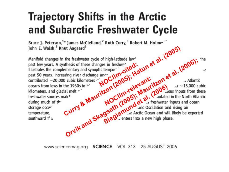 Orvik, Kjell Arild; Skagseth, Øystein (2005), Heat flux variations in the eastern Norwegian Atlantic Current toward the Arctic from moored instruments, 1995–2005.
