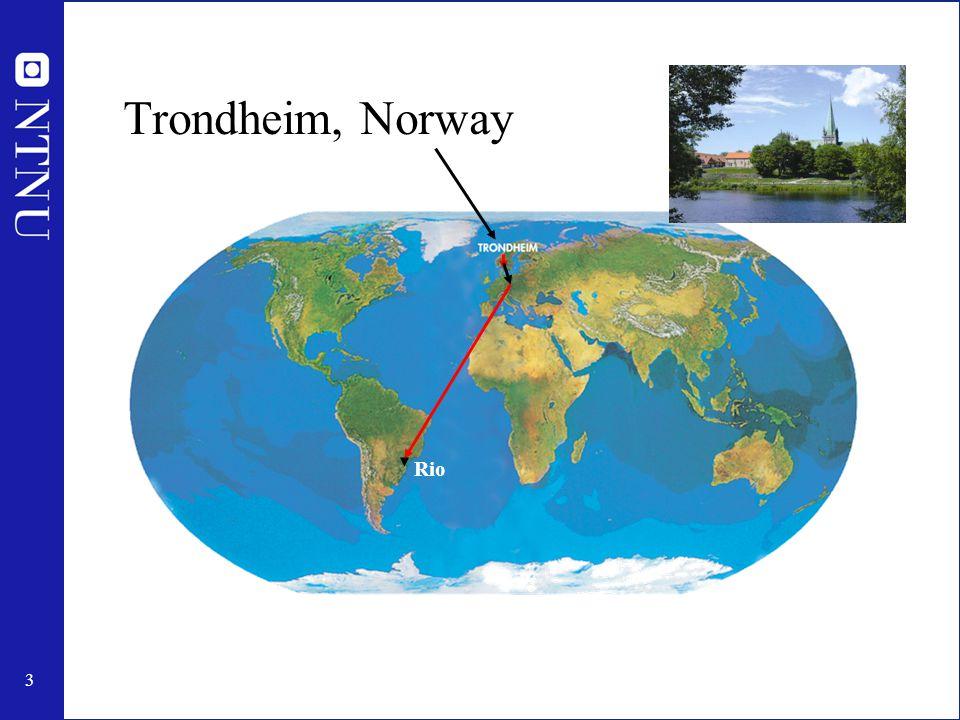 4 Trondheim Oslo UK NORWAY DENMARK GERMANY North Sea SWEDEN Arctic circle
