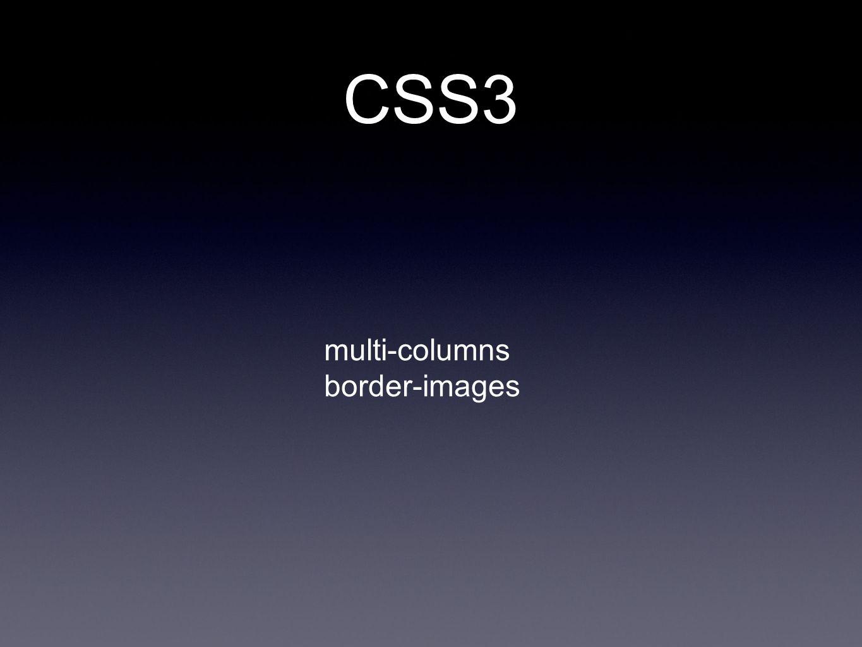 multi-columns border-images CSS3