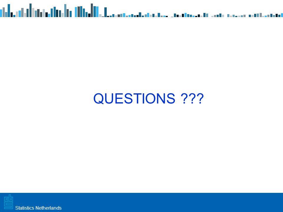Utrecht, 20 februari 2009 Haarlem, 10 maart 2009Statistics Netherlands QUESTIONS ???