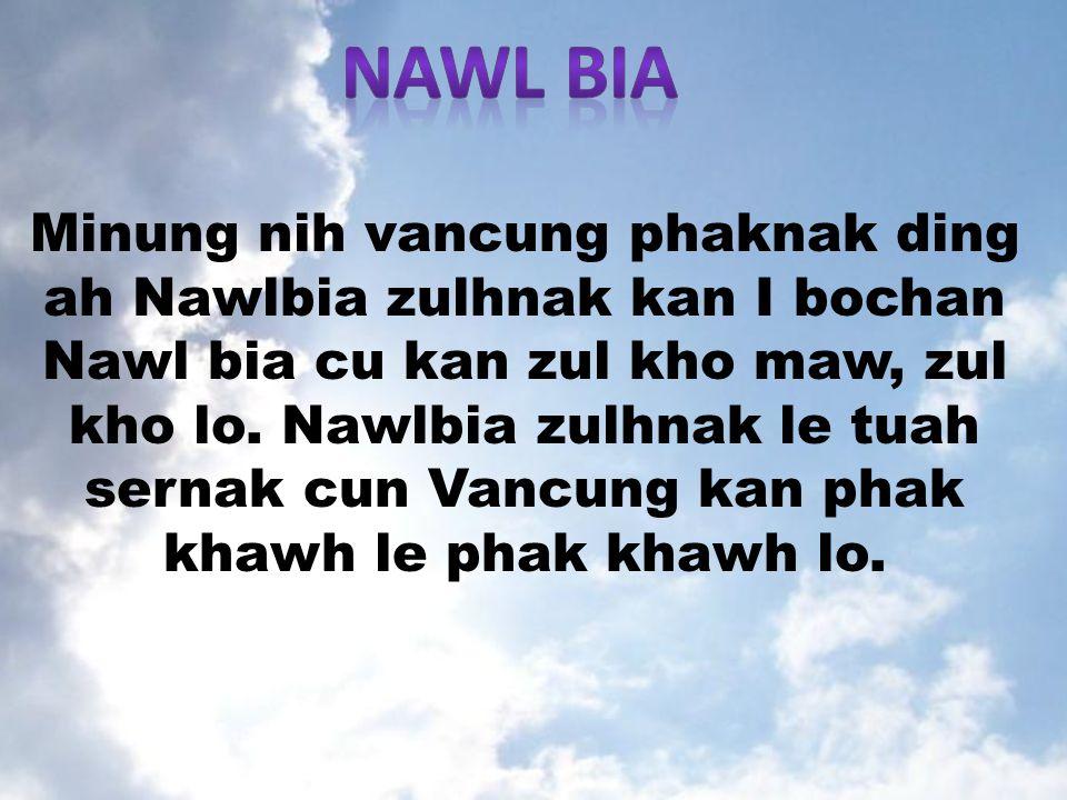 Minung nih vancung phaknak ding ah Nawlbia zulhnak kan I bochan Nawl bia cu kan zul kho maw, zul kho lo.