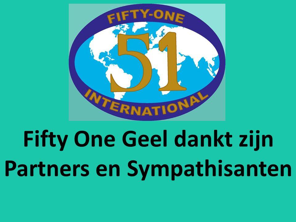 Fifty One Geel dankt zijn Partners en Sympathisanten