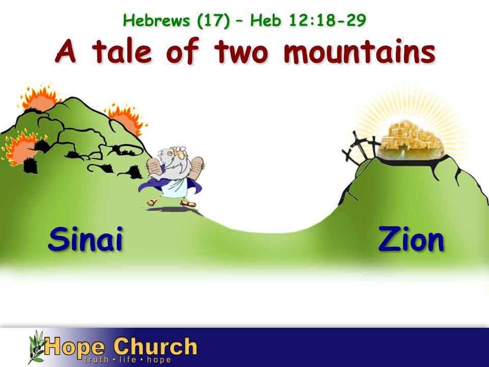 Sinai Zion A tale of two mountains Hebrews (17) – Heb 12:18-29