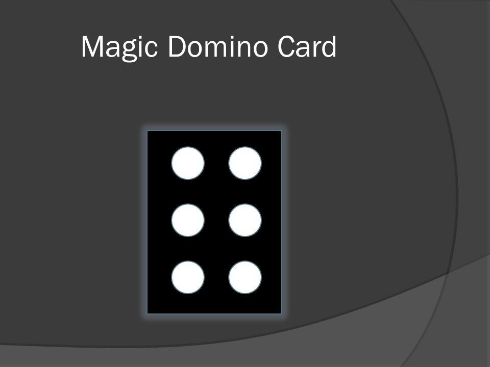 Magic Domino Card