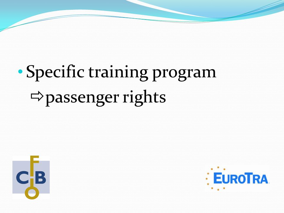 Specific training program  passenger rights